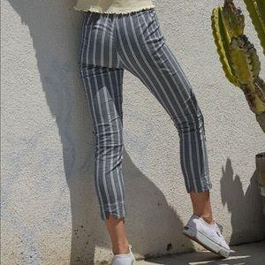 John Galt Blue & White Tilden Pants